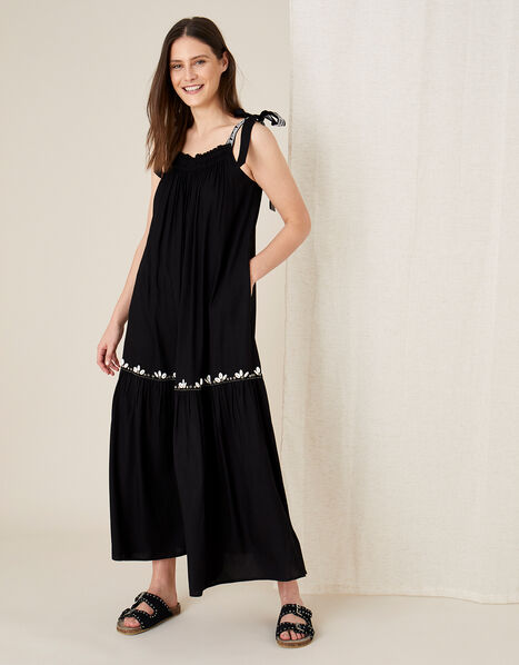 Jaya Maxi Dress in LENZING™ ECOVERO™ Black, Black (BLACK), large