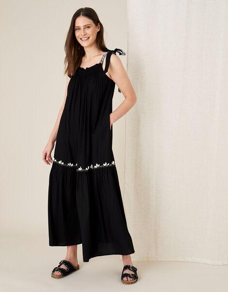 Jaya Maxi Dress in LENZING™ ECOVERO™ Black, Black (BLACK), large