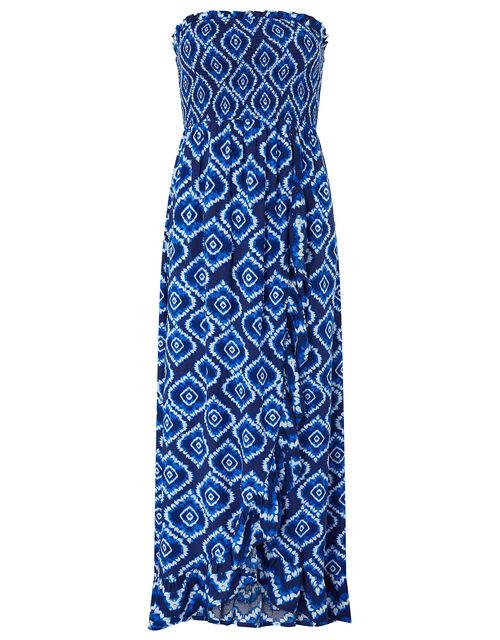 Tie-Dye Print Dress in LENZING™ ECOVERO™, Blue (BLUE), large