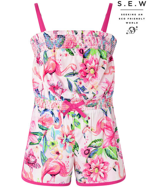 Floella Flamingo Playsuit in Recycled Polyester, Pink (PALE PINK), large