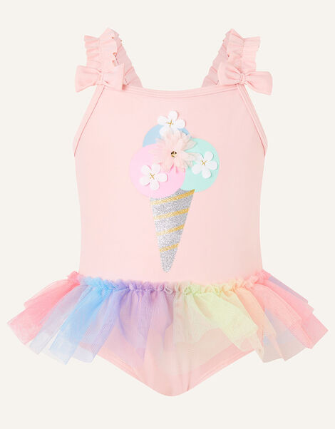 Baby Ice Cream Skirted Swimsuit  Pink, Pink (PALE PINK), large