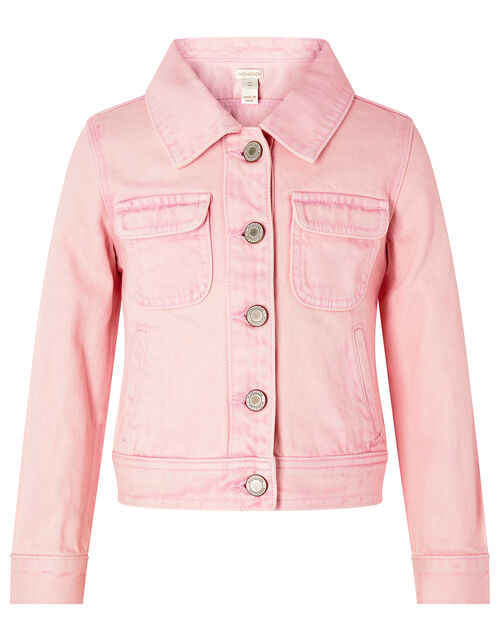 Primrose Tie-Dye Denim Jacket, Pink (PINK), large