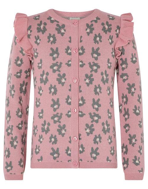 Animal Knit Cardigan, Pink (PALE PINK), large