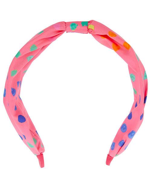 Polka Dot Knot Headband, , large