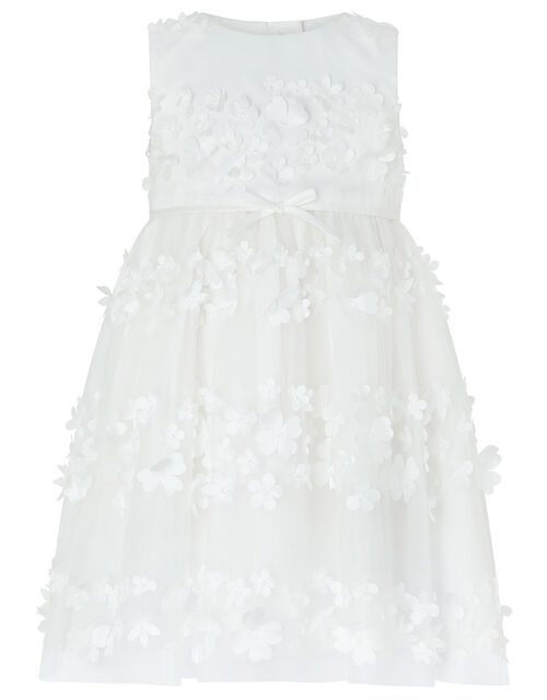 Baby Pretty Petal Occasion Dress, Ivory (IVORY), large