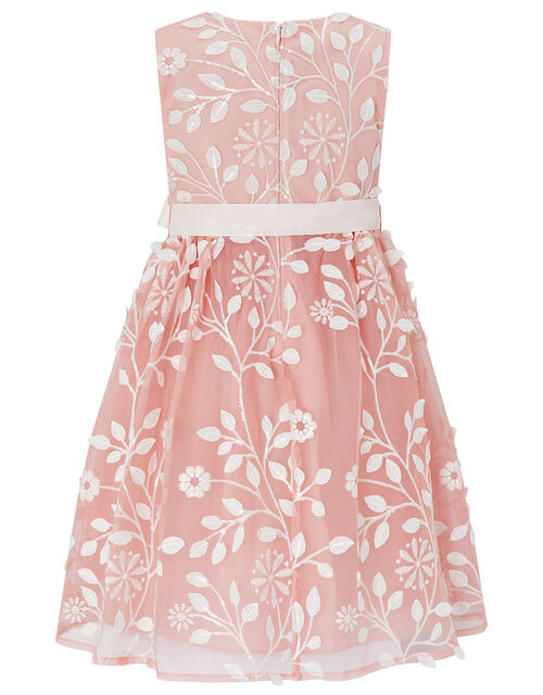 Sylvia Floral Embroidered Dress, Pink (PINK), large