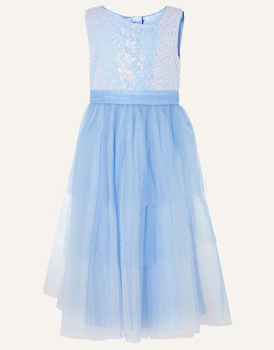 Elise Sequin Tulle Maxi Dress  Blue, Blue (BLUE), large