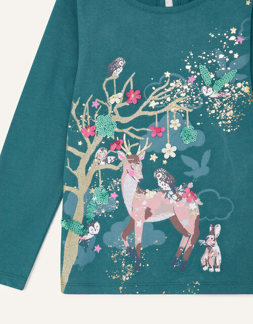 Deer Scene Top , Green (GREEN), large