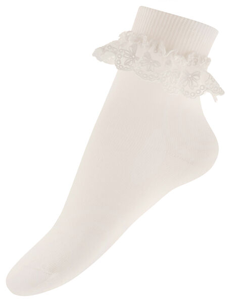 Olivia Bow Lace Sock Ivory, Ivory (IVORY), large