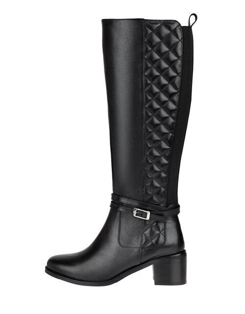 Leather Riding Boots, Black (BLACK), large