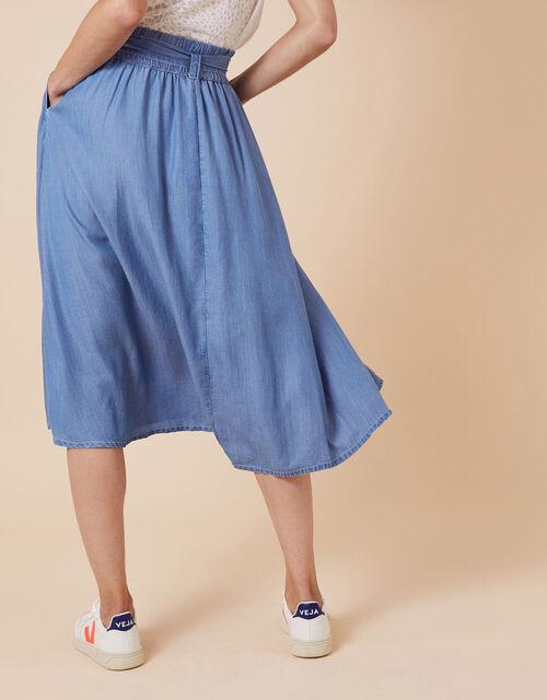 Tammy Midi Skirt  in LENZING™ TENCEL™, Blue (DENIM BLUE), large
