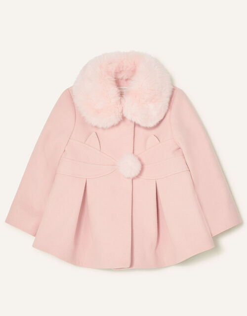 Baby Cat Coat, Pink (PALE PINK), large