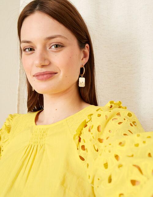 Schiffli Top, Yellow (YELLOW), large