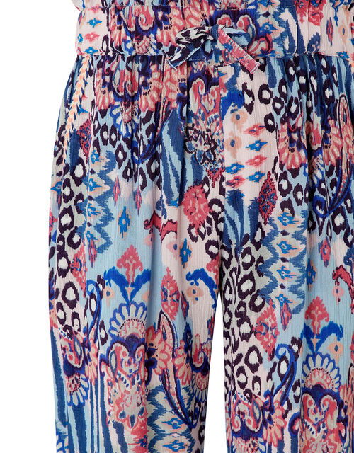 Mercy Printed Trousers in LENZING™ ECOVERO™, Blue (BLUE), large