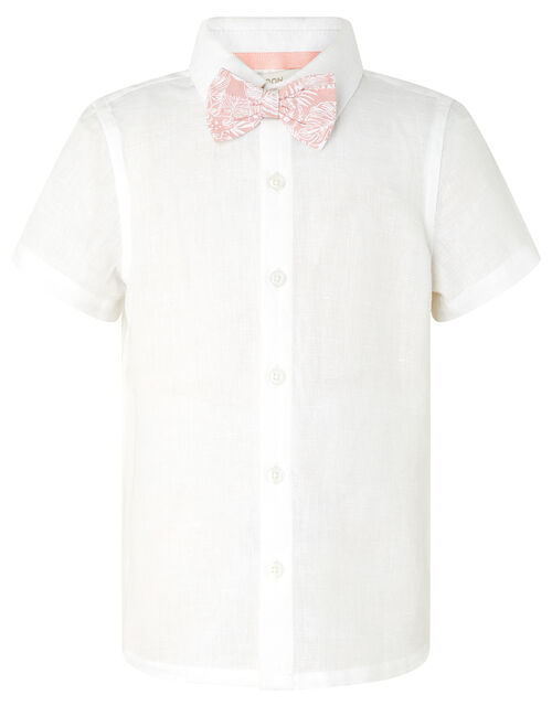 Tom Shirt and Shorts Set with Bow Tie, Ivory (IVORY), large