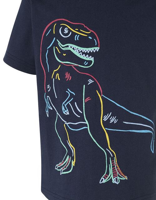 Dinosaur T-Shirt, Blue (NAVY), large