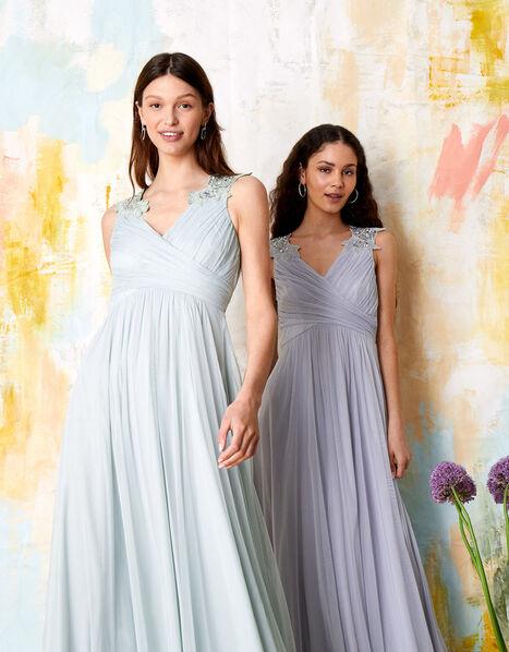 Mischa Embellished Tulle Maxi Dress Blue, Blue (BLUE), large