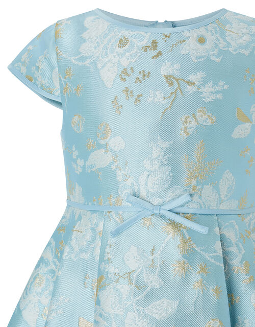 Aries Blue Jacquard Occasion Dress, Blue (BLUE), large