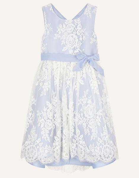 Lace High-Low Dress Blue, Blue (BLUE), large
