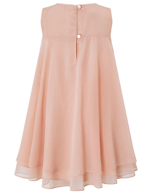 Baby Rosie Flared Dress with Corsage, Pink (DUSKY PINK), large