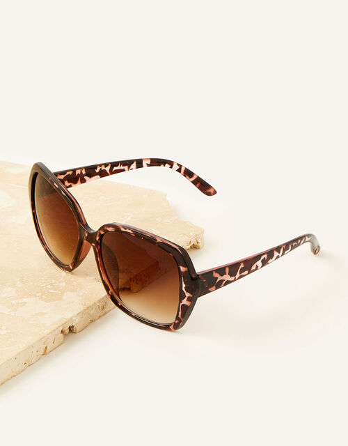 Wilda Oversized Sunglasses, Brown (BROWN), large