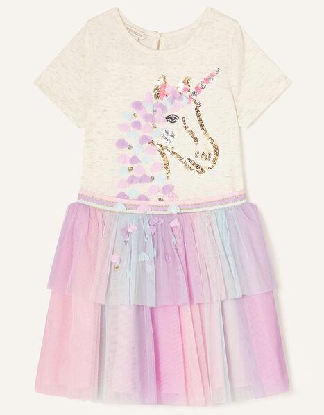 Unicorn Flower Disco Dress Ivory, Ivory (IVORY), large