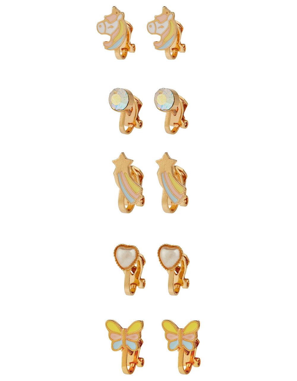 Stardust Unicorn Clip-On Earrings, , large