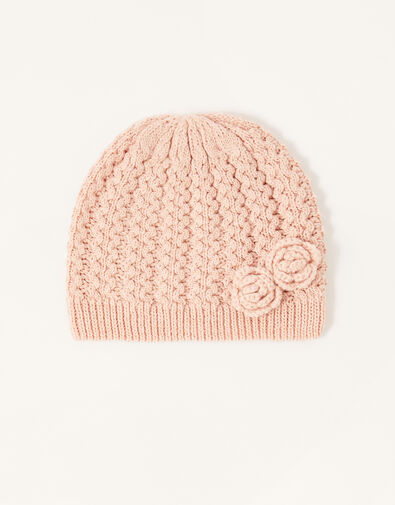 Daisy Sparkle Beanie Pink, Pink (PINK), large