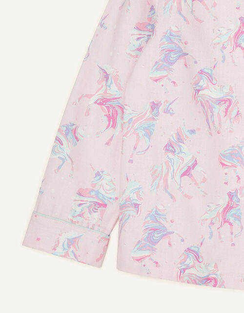 Ada Unicorn Flannel Pyjama Set, Pink (PINK), large