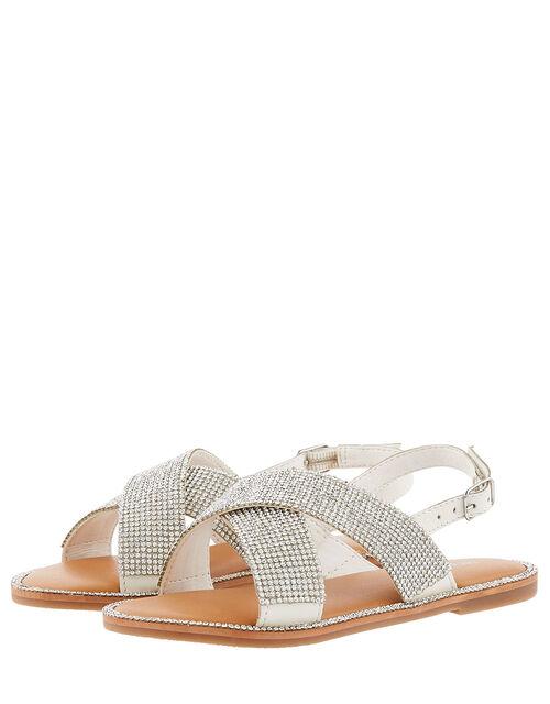 Diamante Sandals, Silver (SILVER), large