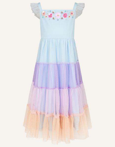Disco Tiered Maxi Dress  Purple, Purple (LILAC), large