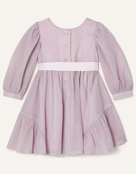 Baby Erin Long Sleeve Sparkle Dress  Pink, Pink (PINK), large