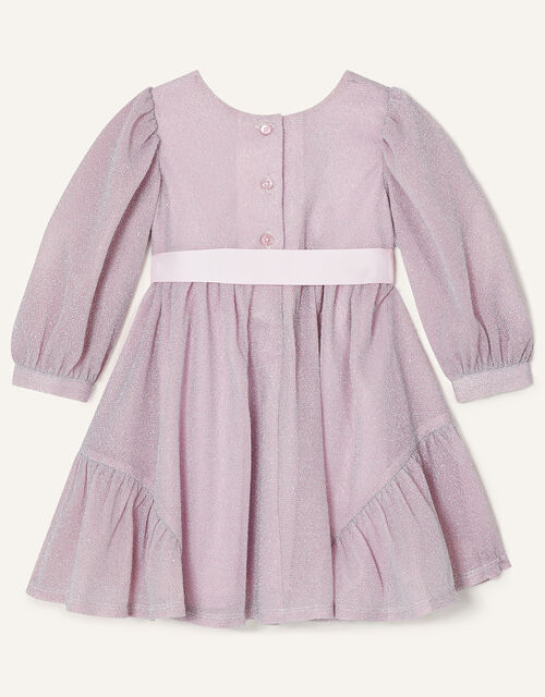 Baby Erin Long Sleeve Sparkle Dress , Pink (PINK), large