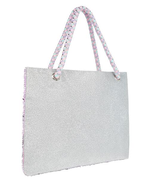 Ellie Unicorn Sequin Shopper Bag, , large