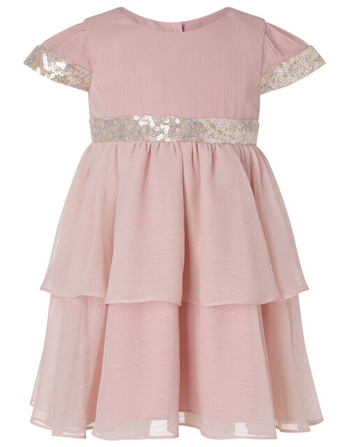 Baby Sequin Tiered Dress, Pink (PINK), large
