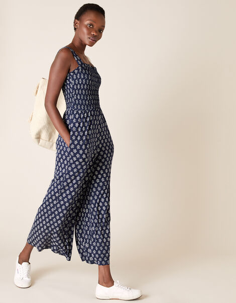 Printed Jumpsuit Blue, Blue (NAVY), large