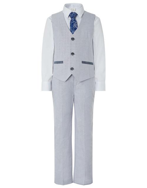 Grayson Oxford Four-Piece Suit Set, Grey (GREY), large