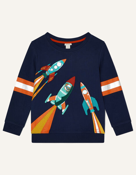 Ronnie Rocket Sweatshirt  Blue, Blue (NAVY), large