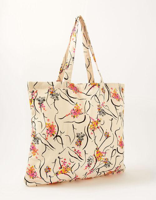 Lady Garden Printed Shopper Bag Organic Cotton, , large