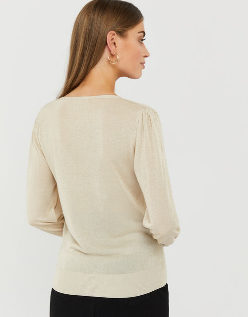 Sara Lightweight Knit Jumper, Gold (GOLD), large