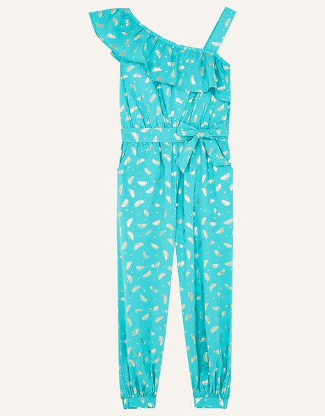 Watermelon Foil Jumpsuit in Organic Cotton  Green, Green (GREEN), large