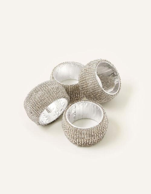 Beaded Napkin Ring Set, , large