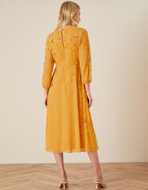 Danni Sequin Dress, Yellow (OCHRE), large