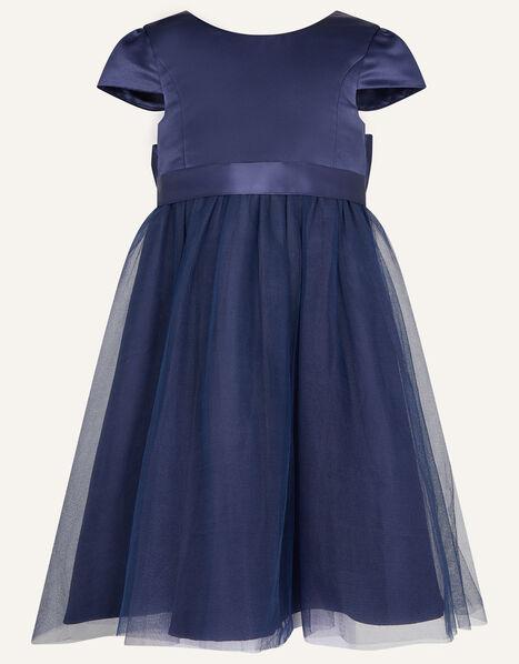 Tulle Bridesmaid Dress Blue, Blue (NAVY), large