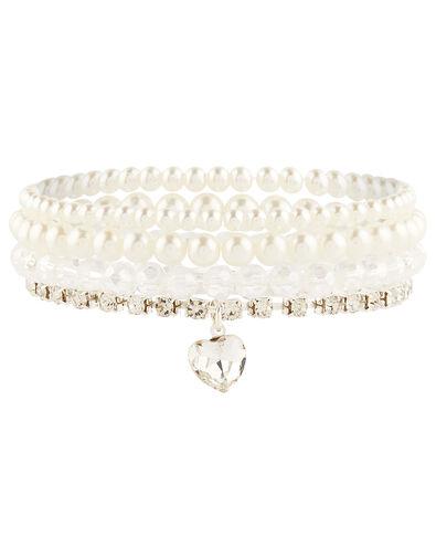 Tatania Heart Sparkle Bracelet Set, , large