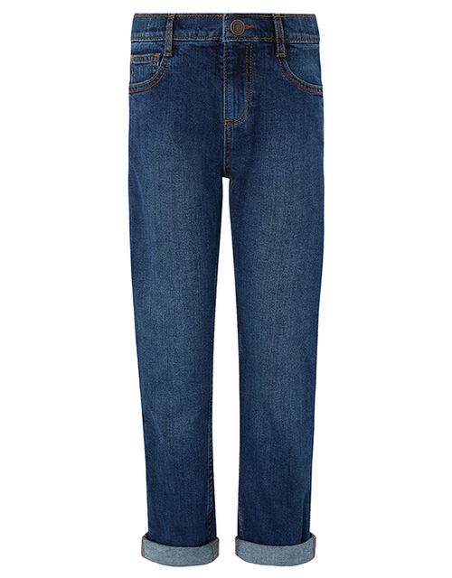 James Straight Leg Jeans, Blue (NAVY), large