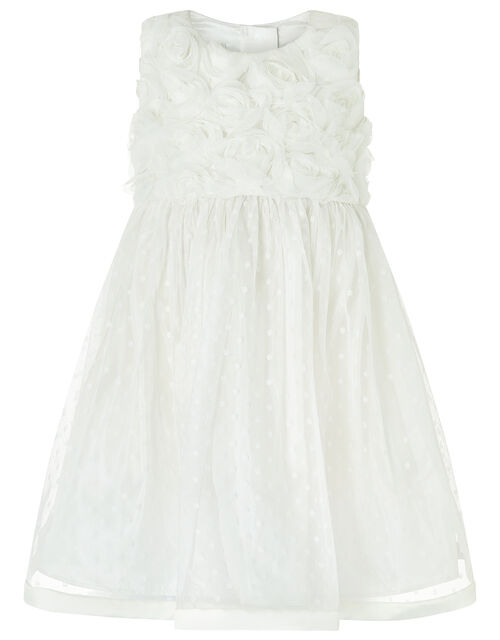 Baby Blossom Rose Ivory Occasion Dress, Ivory (IVORY), large