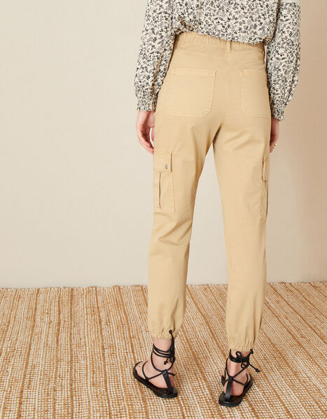Vera Cargo Trousers Natural, Natural (STONE), large