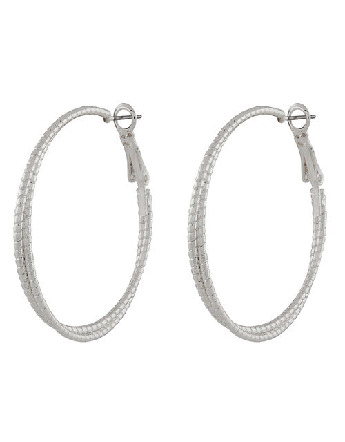 Double Layered Hoop Earrings, , large