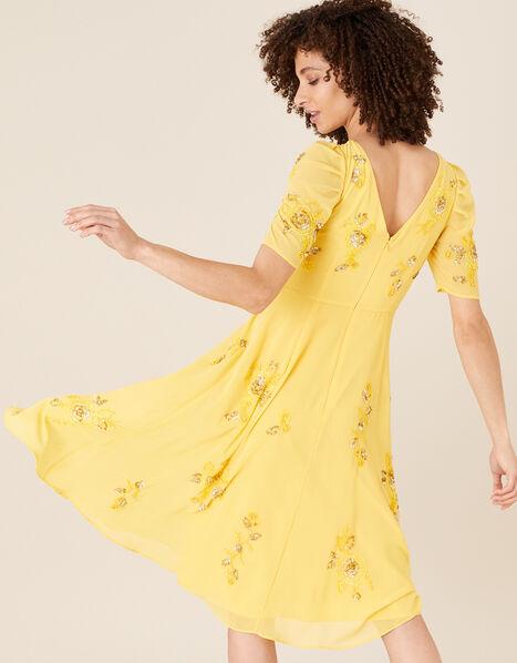 ARTISAN Lilah Floral Embellished Dress Yellow, Yellow (YELLOW), large